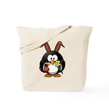 Easter Bunny Penguin Tote Bag