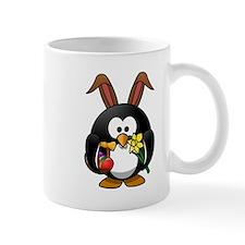Easter Bunny Penguin Small Mug