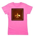 Old Leather with gold Fleur-de-Lys Girl's Tee