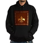 Old Leather with gold Fleur-de-Lys Hoodie (dark)