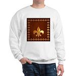 Old Leather with gold Fleur-de-Lys Sweatshirt