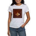 Old Leather with gold Fleur-de-Lys Women's T-Shirt