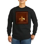 Old Leather with gold Fleur-de-Lys Long Sleeve Dar