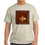 Old Leather with gold Fleur-de-Lys Light T-Shirt