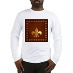 Old Leather with gold Fleur-de-Lys Long Sleeve T-S