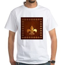 Old Leather with gold Fleur-de-Lys Shirt