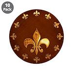 Old Leather with gold Fleur-de-Lys 3.5