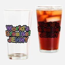 Worlds Greatest Jenny Drinking Glass