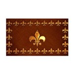 Old Leather with gold Fleur-de-Lys 35x21 Wall Deca