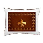 Old Leather with gold Fleur-de-Lys Rectangular Can