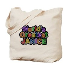 Worlds Greatest Janice Tote Bag