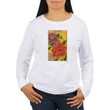 Vintage French Flowers Seed Pack Long Sleeve T-Shi