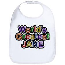 Worlds Greatest Jane Bib