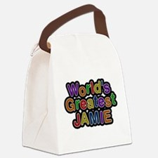 Worlds Greatest Jamie Canvas Lunch Bag