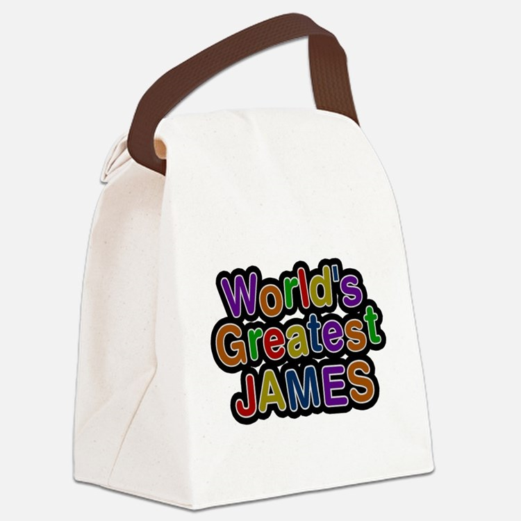 Worlds Greatest James Canvas Lunch Bag