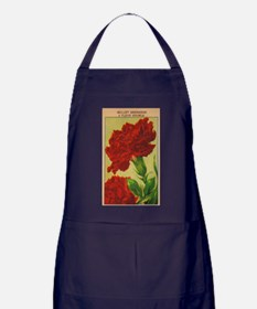 Vintage French Flowers Seed Pack Apron (dark)