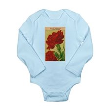 Vintage French Flowers Seed Pack Body Suit