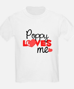 Poppy Love Me (red) Kids T-Shirt