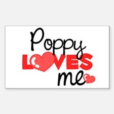 Poppy Love Me (red) Rectangle Decal