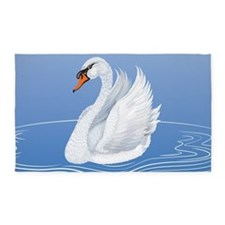 Beautiful Swan 3'x5' Area Rug