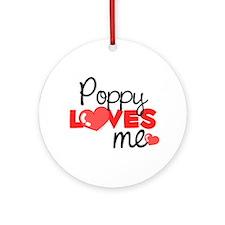 Poppy Love Me (red) Ornament (Round)