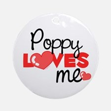 Poppy Love Me (red) Ornament (Round)