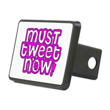 MUST tweet NOW pink black outline Hitch Cover