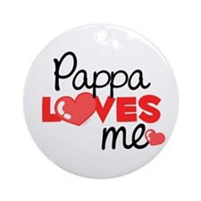 Pappa Love Me (red) Ornament (Round)