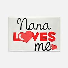 Nana Love Me (red) Rectangle Magnet