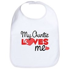 My Auntie Love Me (red) Bib