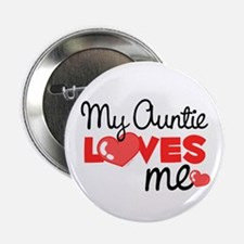 My Auntie Love Me (red) Button