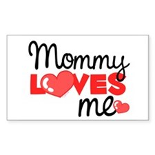 Mommy Love Me (red) Rectangle Decal