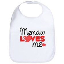 Memaw Love Me (red) Bib