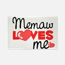 Memaw Love Me (red) Rectangle Magnet