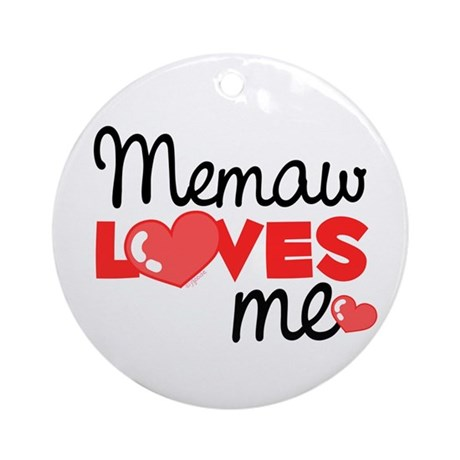 Memaw Love Me (red) Ornament (Round)