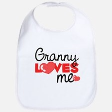 Granny Love Me (red) Bib