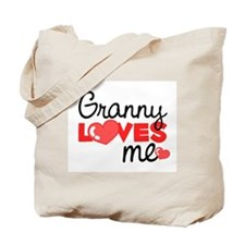 Granny Love Me (red) Tote Bag