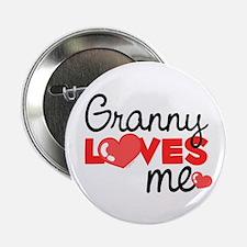 Granny Love Me (red) Button