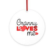 Granny Love Me (red) Ornament (Round)