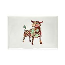 Cute Taurus zodiac Rectangle Magnet