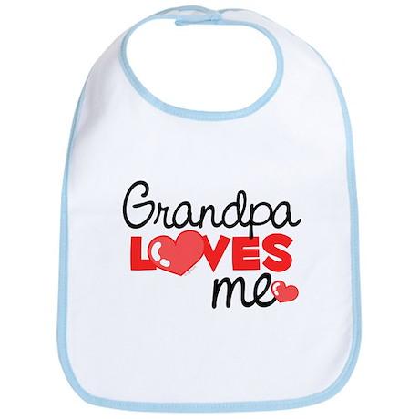 Grandpa Love Me (red) Bib