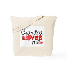 Grandpa Love Me (red) Tote Bag