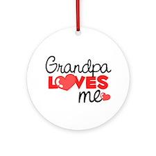 Grandpa Love Me (red) Ornament (Round)