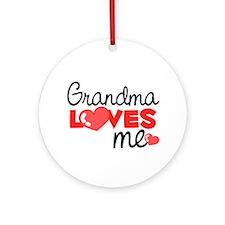 Grandma Love Me (red) Ornament (Round)