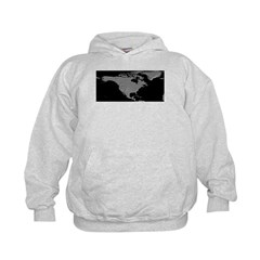 North America Shaded Relief Hoodie