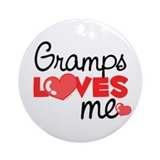 Gramps Love Me (red) Ornament (Round)