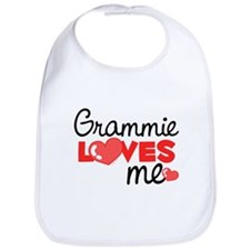 Grammie Love Me (red) Bib