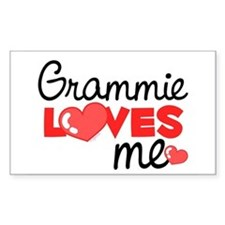 Grammie Love Me (red) Rectangle Decal