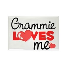 Grammie Love Me (red) Rectangle Magnet