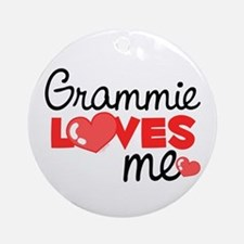 Grammie Love Me (red) Ornament (Round)